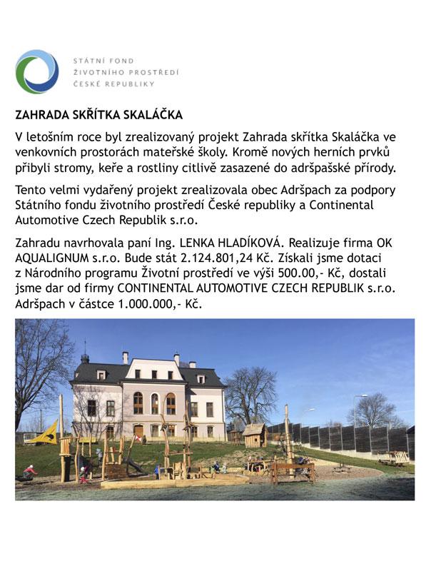 Projekt Zahrada skřítka Skaláčka